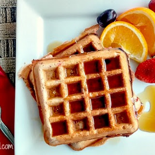 Strawberry Belgian Waffles.