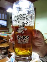 Photo: Een zubr is een Europese bizon, maar ook een bier uit Polen.