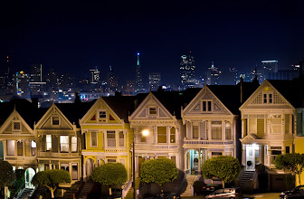 Photo: Ladies night out! San Francisco, CA. 2011.  Round 2 of the #PhotographyDeathMatch with the talented +Chrysta Rae on the theme Nightscape.  I've been waiting to shoot the painted ladies until the right moment, they are so iconic and have been photographed SO much, that i didn't just want to make another image of them. When i stepped out to go shooting this night i noticed how clear the sky was (as opposed to the frozen tundra +Chrysta Rae is stuck in), and thought I could capture something that you dont always get, an unobstructed view of downtown from alamo square.  No longer just feeling each other out, its time to get to work. I'm in for all 5 rounds and it looks like its going to be a glorious match. To really appreciate this image you have to see it in the lightbox (Click on it!)  A Recap of the event:  Round1: http://goo.gl/nL4vg by +Chrysta Rae http://goo.gl/tExkt by +Ricardo Lagos  #PhotographyDeathMatch (Hosted by +Tamara Pruessner and +Samir Osman) #PhotographyDeathMatch_CRvsRL (See all the match images)