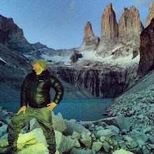 Photo: Doing the Captain Morgan stance at Torres Del Paine before sunrise.