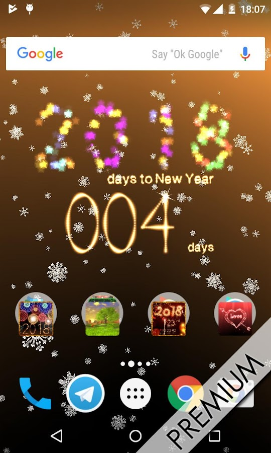 New Year's Countdown 2018- screenshot