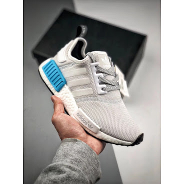 Adidas NMD R1 (Grey/White/Blue)