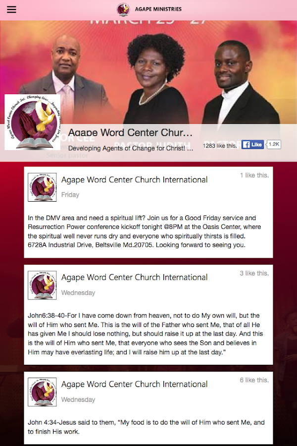 Agape Word Center- screenshot