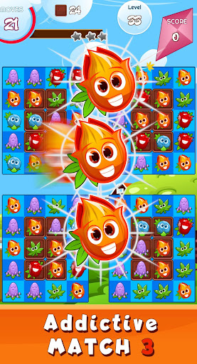 Match 3 game - blossom flowers android2mod screenshots 1