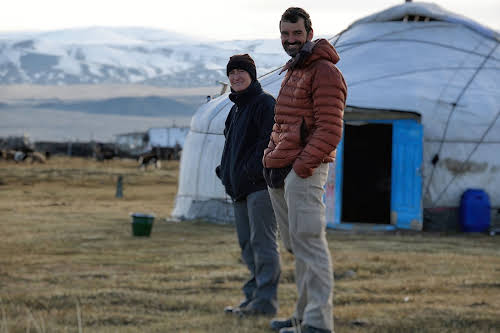 Pat and Bruno in Sagsai, Altai, Mongolia