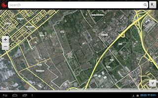 Screenshot of WikiMapia Explorer