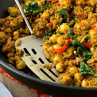 Indian Quinoa and Chickpea Stir-Fry.