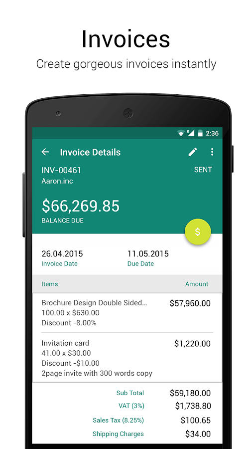 accounting app - zoho books - android apps on google play, Invoice templates