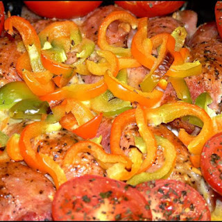 Oven-baked Chicken with Capsicum