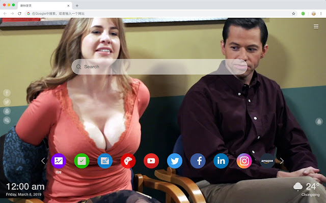 Two and a Half Men Popular HD New Tabs Themes