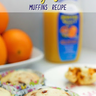 Orange Muffins Recipe with Flax Seeds and Cinnamon Chips
