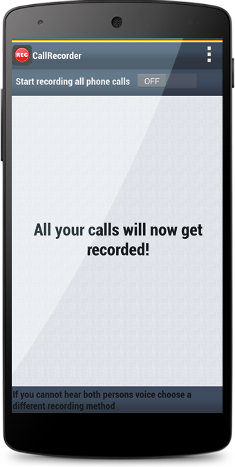 Honest Call Recorder app- screenshot