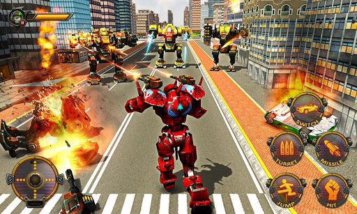 Robot Car War Transform Fight  screenshots 17