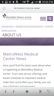 MetroWest Medical Center- screenshot thumbnail