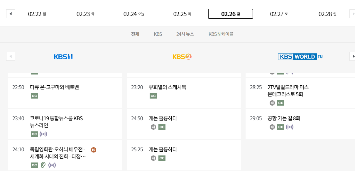 kbs sched