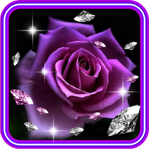 Roses Diamonds live wallpaper