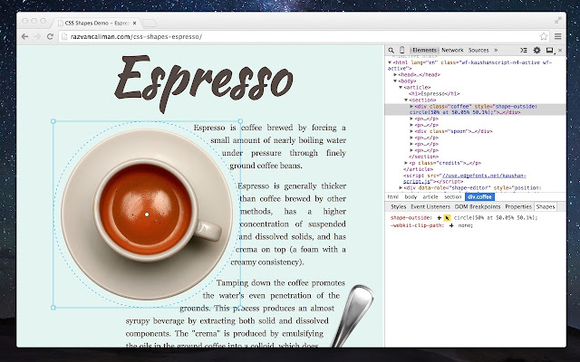 CSS Shapes Editor