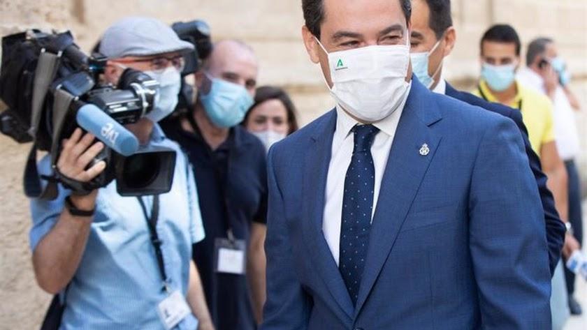 El presidente de la Junta de Andalucía, Juanma Moreno. Foto de María José López.