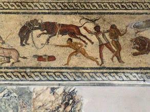 Photo: Mosaiek uit een Romeinse villa in Zliten, 2de eeuw