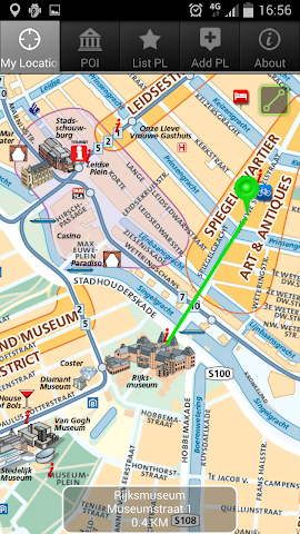 Screenshot 1 Amsterdam - The Map,  GPS