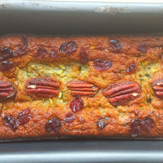 Zucchini/courgette Coconut Cranberry Bread