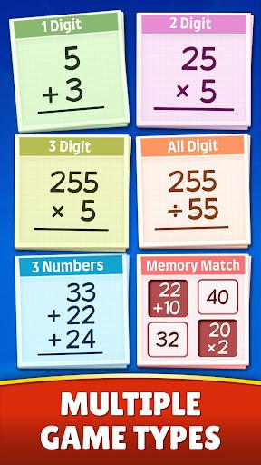 Math Games - Addition, Subtraction, Multiplication apktram screenshots 4