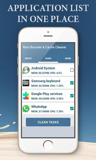 Ram Booster & Cache Cleaner  screenshots 5