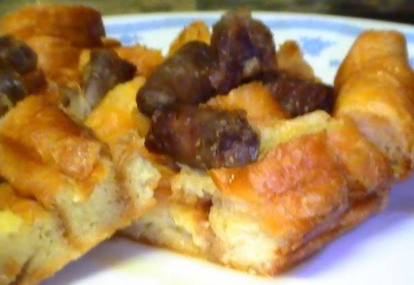 Decadent Maple Sausage-croissant Casserole Recipe