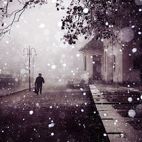by Oana Stoian - Digital Art Places ( black and white )