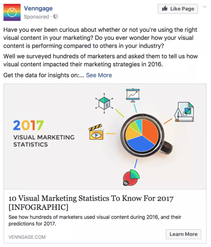 Best Facebook Ad Examples - Vennage