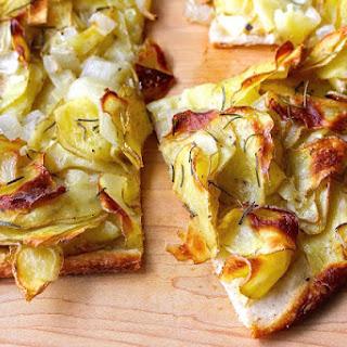 Potato Pizza with Rosemary.