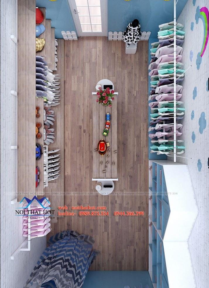 thiết kế shop thời trang trẻ em 4