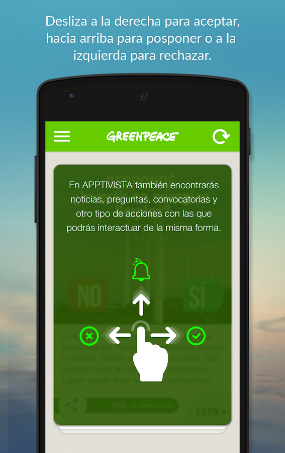 Greenpeace Apptivista- screenshot