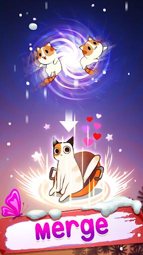 Télécharger Gratuit Merge cats - Meowaii Garden  APK MOD (Astuce) screenshots 1
