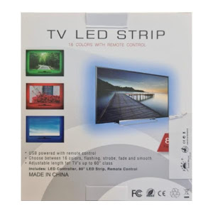 Banda Smart LED RGB 2 metri, lumina ambientala, TV, USB, Wi-Fi