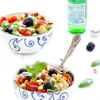 Balsamic Rainbow Summer Salad.