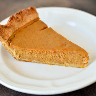 Pumpkin Pie (Gluten, Dairy, and Sugar-Free).