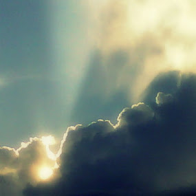 Be the Light by Marilyn Kruger - Landscapes Cloud Formations