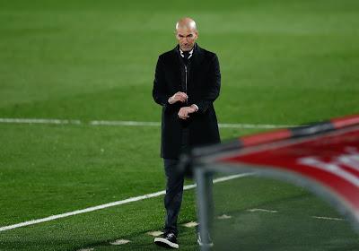 """Zidane amer après le partage du Real Madrid d'Hazard et Courtois : """"Deux points de perdus"""""""