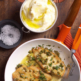 Chicken Piccata with Mashed Potatoes