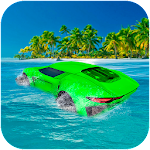 Water Surfer Floating Car Icon