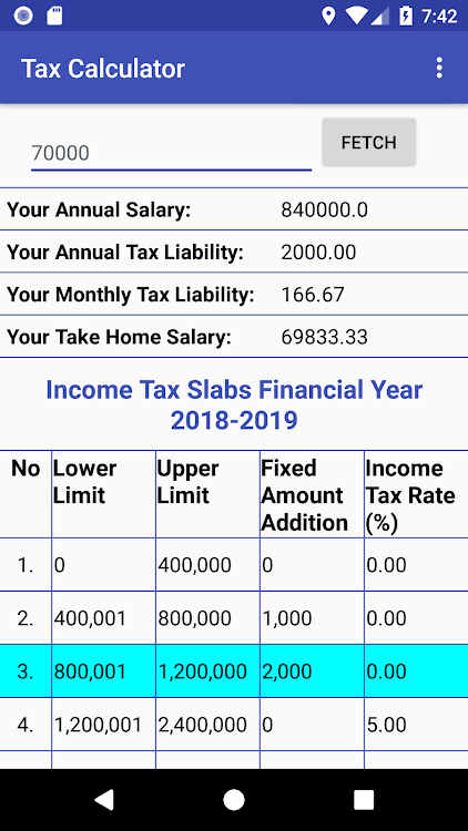 Pakistan Income Tax Calculator 2018-2019 – (Android Apps