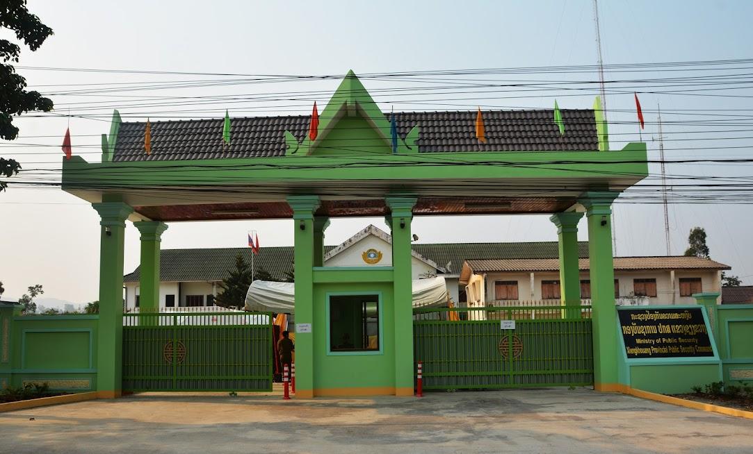 Cổng chính, tường rào của Công an tỉnh Xiêng Khoảng được Công an tỉnh Nghệ An hỗ trợ 3,5 tỷ đồng