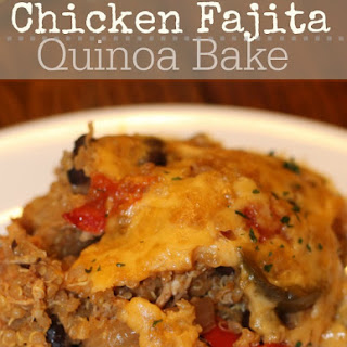 Chicken Fajita Quinoa Bake