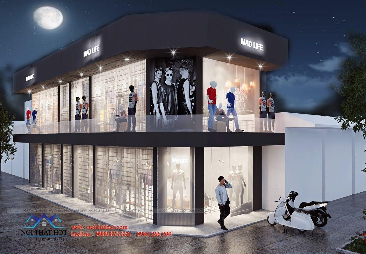 thiết kế shop thời trang nam H2T 1