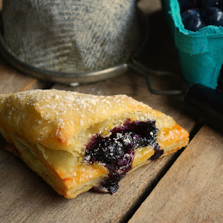 Blueberry Vanilla Cream Cheese Pies