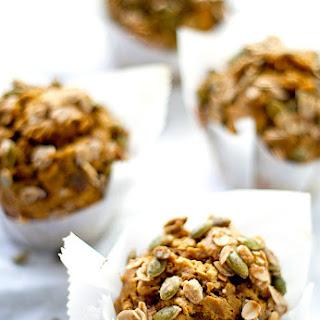 Tahini Pumpkin Muffins With Pepita Oatmeal Crumble