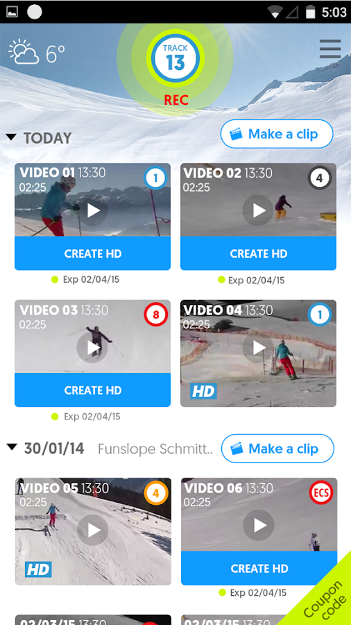 SpotOn video tracker- screenshot