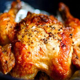Crispy Roasted Chicken.