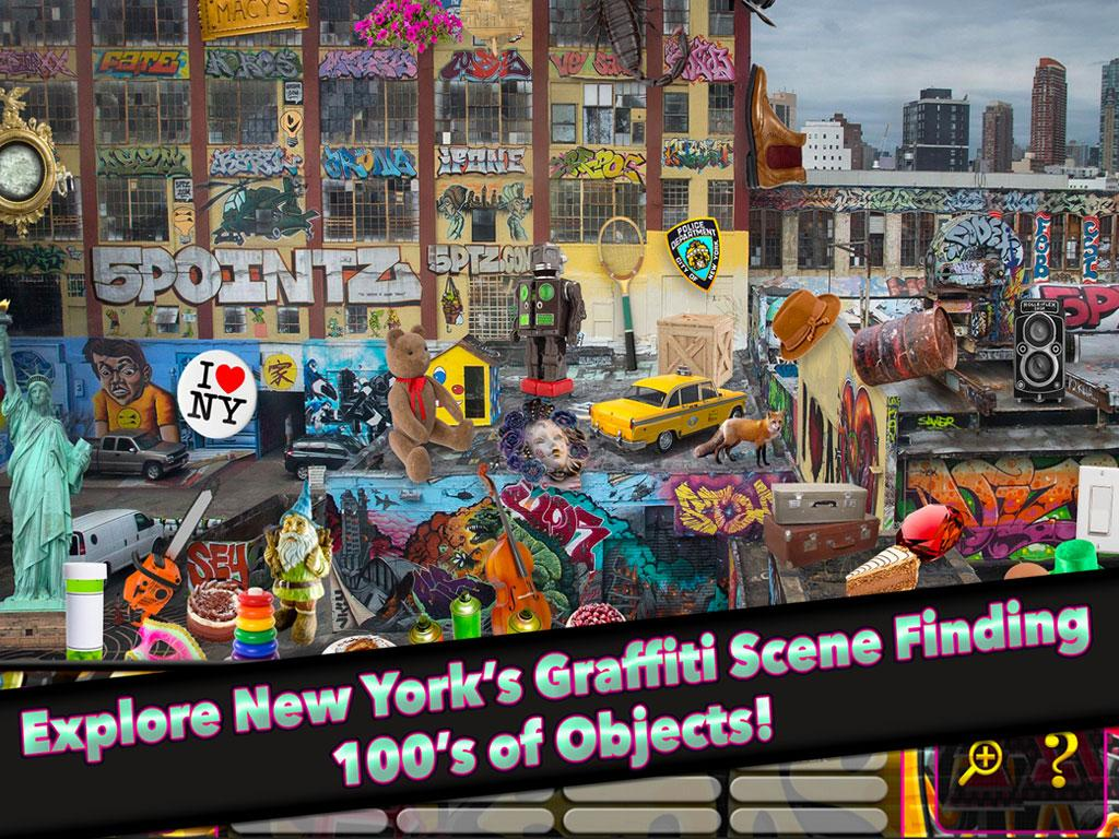 Hidden Object NYC Graffiti- screenshot